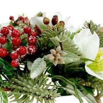Decorative wreath with Christmas roses Ø30cm