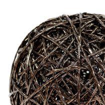 Decorative ball dark brown Ø15cm