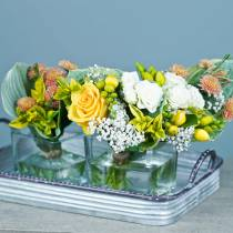 Decorative tray with handles metal silver 30cm / 37cm / 45cm set of 3