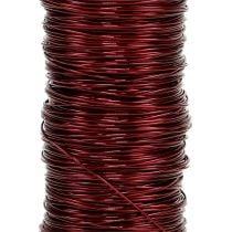 Decoration wire Ø0,30mm 30g/50m Bordeaux