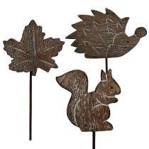 Flower plug 5cm - 6cm Autumn motives 12pcs