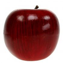 Decorative apples red, lacquered Ø8cm 6pcs