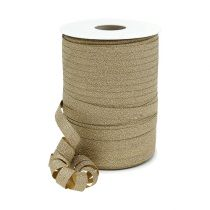 Deco ribbon gold with mica 10mm 150m