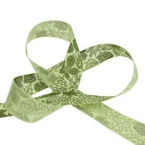 Gift ribbon autumn leaves 25mm 18m