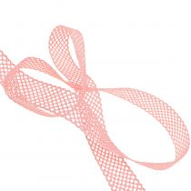 Gift ribbon for decoration lace 21mm 20m pink