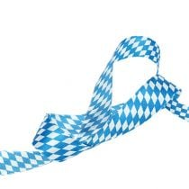Gift ribbon for decoration white-blue 25mm 20m