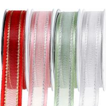 Deco tape with Lurex 25mm 20m