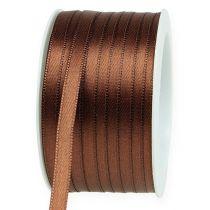 Gift ribbon brown 6mm x 50m