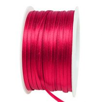 Gift and decoration ribbon 3mm x 50m Pink