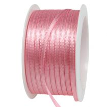 Gift and decoration ribbon 3mm x 50m pastel pink