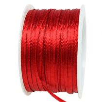Gift and decoration ribbon 3mm x 50m light red