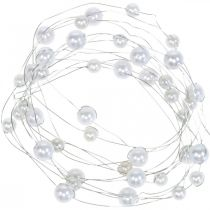Decorative wire, pearl necklace for decorating, wedding decoration, pearl ribbon, garland 2.5m