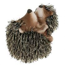 Deco hedgehog with child 11,5cm 2pcs