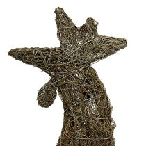 Decoration figure cock from vine nature 45cm