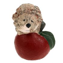 decorative figure hedgehog on apple 7,5cm ceramic