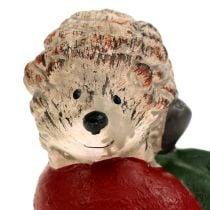 decorative figure hedgehog on apple 7,5cm ceramic