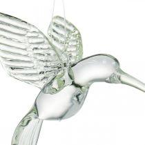 Decoration hummingbird, glass decoration, bird of paradise, glass pendant, decoration bird