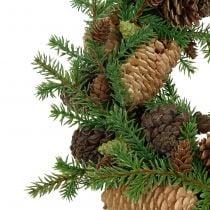 Deco wreath fir with cones green Ø25cm