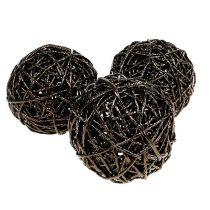 Decoration ball Ø12cm dark brown 6pcs