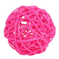Ball for decoration Pink Ø7cm 18pcs