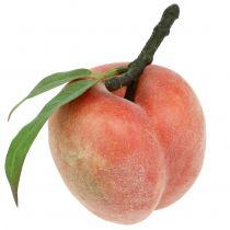Decorative fruit peach pink Ø8cm L10cm 4pcs