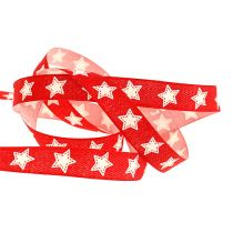Decorative band with star pattern red 15mm 20m