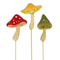 Deco plug mushrooms 8,5cm Mix 9pcs