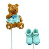 Bouquet decoration Bear, Shoe Blue 1,5-4cm 16pcs