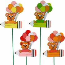 Decorative plug pen with teddy bear and balloons flower plug summer decoration children 16pcs