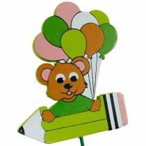 Decorative plug pen with teddy bear and balloons flower plug summer decoration children 16pcs