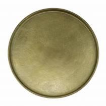 Decorative plate clay Ø20cm gold