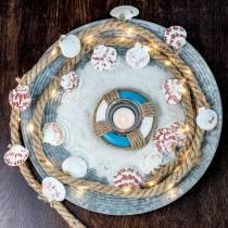 Deco plate zinc plate Ø35cm 1pc