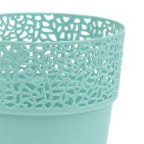 Decorative pot plastic Mint Ø13cm, H13.5cm 1p