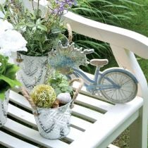 Decorative metal pot, plant pot with flower pattern, metal planter for planting Ø20.5cm