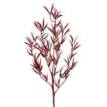 Deco branch red with mica 69cm 2pcs