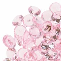 Decorative Gems Diamond Acrylic Light pink Ø1.2cm 175g For birthday decoration