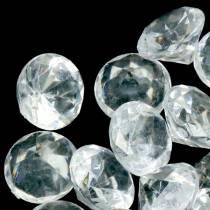 Decorative stones diamond clear Ø2.8cm 150g table decoration