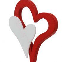 Deco plug double heart 28cm 18pcs