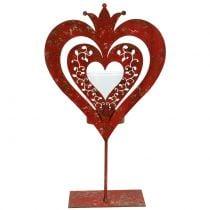 Deco heart with lantern H26cm