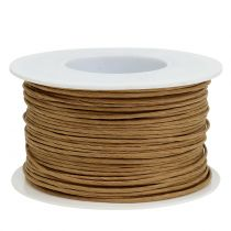 Paper wire, wire wrapped in Ø2mm, 100m natural