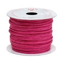Wire wrapped 50m fuchsia