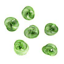 Wire Wheels Apple Green Ø4,5cm 6pcs