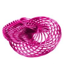 Wire Wheels Pink Ø4,5cm 6pcs