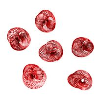 Wire Wheels Red Ø4,5cm 6pcs