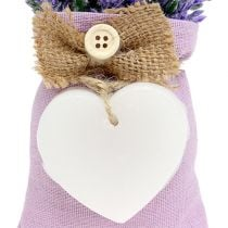 Lavender bag 18cm with wax heart