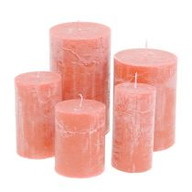 Colored candles Salmon different sizes