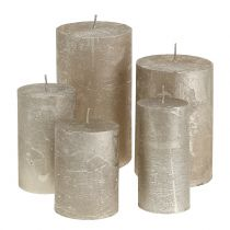 Solid colored candles platinum different sizes