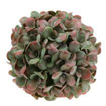Echeveria ball artificial green, red Ø22cm