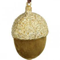 Acorns to hang, Advent, tree decorations, autumn decorations H6.5cm Ø4cm 6pcs