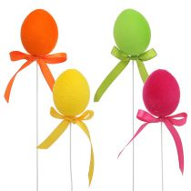 Eggs flocked to the wire 6cm 12pcs